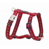 Red Dingo Postroj  12 mm x 30-44 cm - Pawprints Red