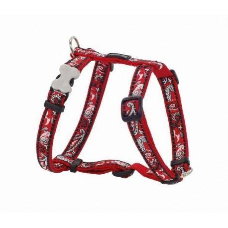 Postroj 12 mm x 30-44 cm - Bandana Red