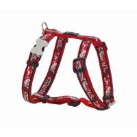 Red Dingo Postroj  12 mm x 30-44 cm - Bandana Red