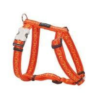 Red Dingo Postroj  12 mm x 30-44 cm - Cosmos Orange