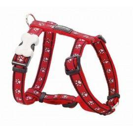 Postroj  15 mm x 36-54 cm - Pawprints Red