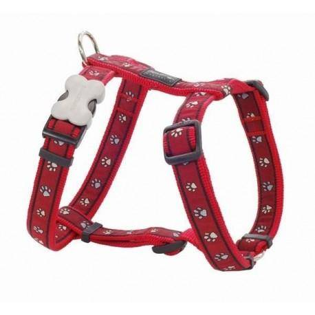 Postroj  25 mm x 56-80 cm - Pawprints Red