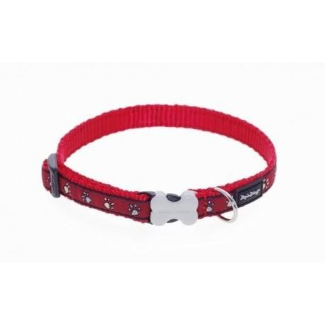 Obojek  12 mm x 20-32 cm - Pawprints Red