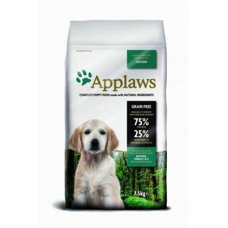 Applaws DOG PUPPY SMALL & MEDIUM BREED CHICKEN 7,5 kg - Granule pro štěňata