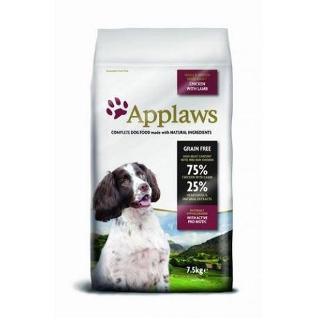 Applaws DOG ADULT SMALL & MEDIUM BREED CHICKEN & LAMB 7,5 kg - Granule pro psy