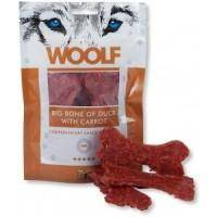 Woolf BIG BONE OF DUCK WITH CARROT 100g - pamlsky pro psy